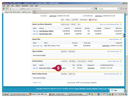 email a quote in salesforce crm salesforce training