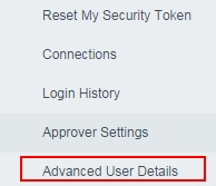 Changing Salesforce Login Password