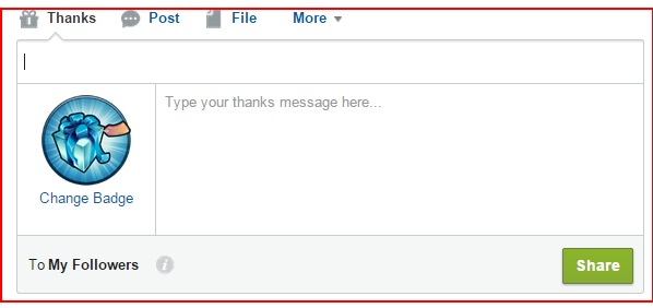 Salesforce Chatter Publisher - Adding Thanks Button in Chatter