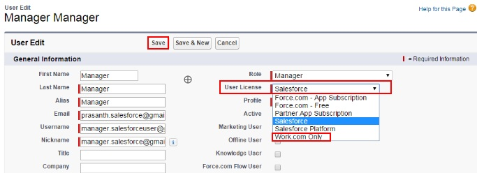 Salesforce User Licenses - Salesforce Work.com Licenses
