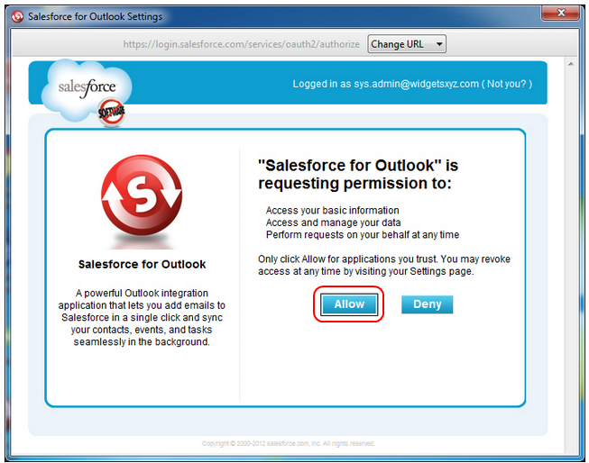 Configuring Salesforce for Outlook Software on a Local Machine