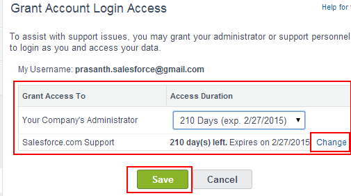 support to enable to login1